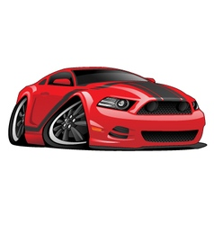 Red Muscle Car Cartoon vector