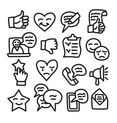 relationship management icons vector image