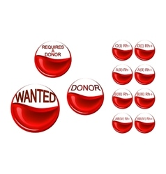 requires a donor Erythrocytes of the donor vector image
