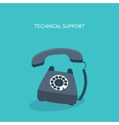 Retro telephone Technical vector image