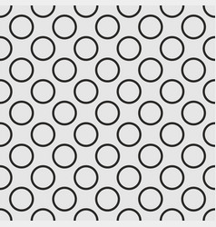 seamless pattern with tile black dots on grey vector image