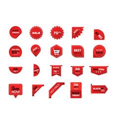 set black friday badges special offer sale promo vector image