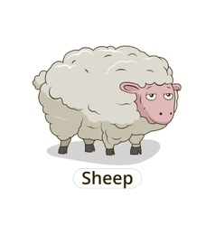 Sheep animal cartoon for children vector image