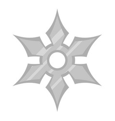 Shuriken weapon icon isolated vector