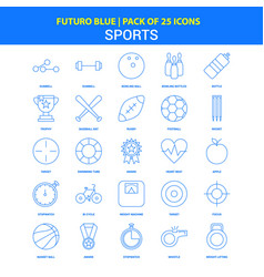 Sports icons - futuro blue 25 icon pack vector