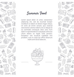 summer food banner template with place for text vector image