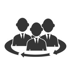 Teamwork meeting pictogram icon vector