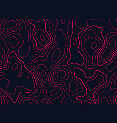 Topographic map design in red color vector