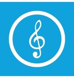 Treble clef sign icon vector