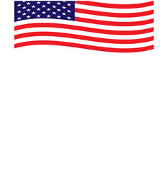 united states flag frame background vector image