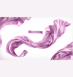 Violet curtain fabric 3d realistic vector