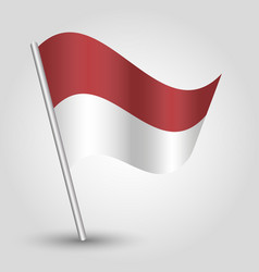 waving simple triangle indonesian flag vector image vector image