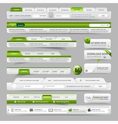 Web site design template navigation elements vector