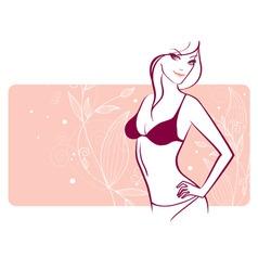 woman florals vector image vector image