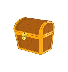 Wooden dower chest icon cartoon style vector image