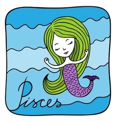 Zodiac signs Pisces vector image