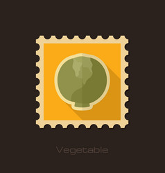 cabbage flat stamp vegetable vector image
