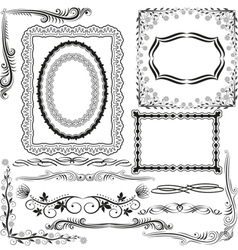 corners borders and ornaments vector image vector image
