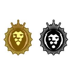 lion head minimalistic colorful icon vector image