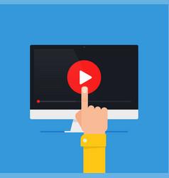 online video concept vector image vector image