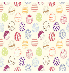 seamless pattern with easter eggs color vector image vector image