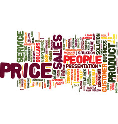 the myth about price text background word cloud vector image vector image