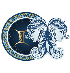 Zodiac signs - Gemini vector image