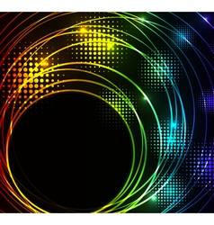 abstract glowing background with digital symbols vector image vector image