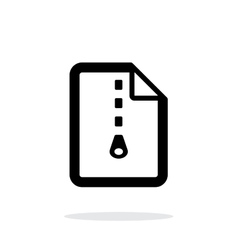 Archive file icon on white background vector image