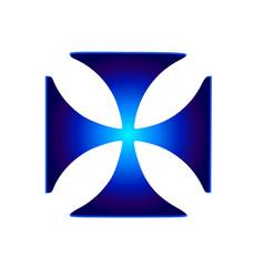glowing symbol cross pattee christianity vector image vector image