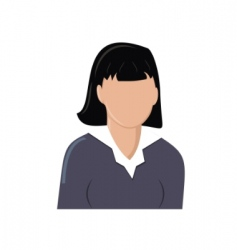 icon image of a girl vector image vector image