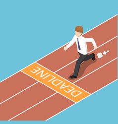 isometric businessman trying to run across the vector image vector image