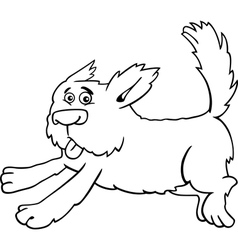 running shaggy dog cartoon for coloring vector image
