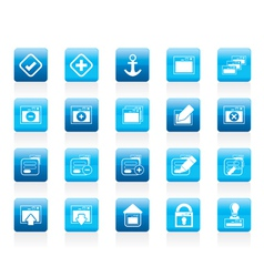 server and computer icon vector image vector image