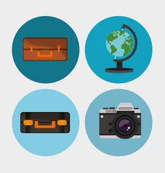 set equipment travel vacation vector image