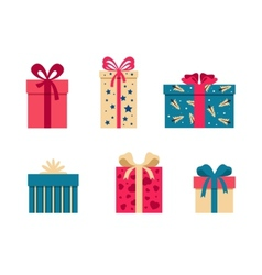 set of colorful gift box symbols vector image vector image