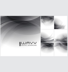 wavy abstract background vector image vector image