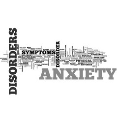 What is anxiety and how to treat it text word vector