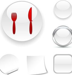 Dinner icon vector