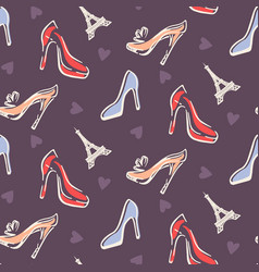 fashion seamless pattern background vector image