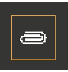 Simple stylish pixel icon clip design vector image vector image