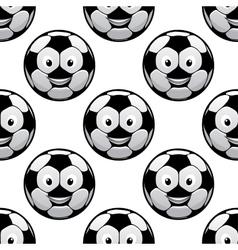 Smiling football balls seamless pattern vector image vector image