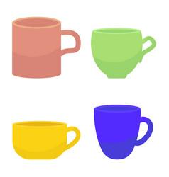 tee and coffee mug vector image