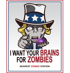 Uncle Sam Zombie vector image