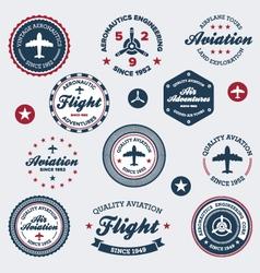 vintage aeronautics labels vector image vector image