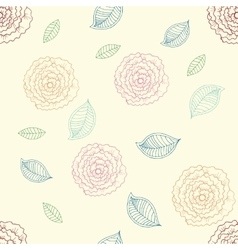 cute rose seamless pattern vector image