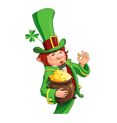 gnome leprechaun fairy-tale vector image vector image