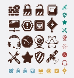 network icons set vector image