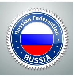 Russia flag label vector image vector image
