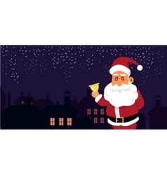 Santa Claus in front of the vector image vector image